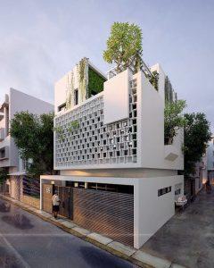 طرح نمای مدرن-گروه معماری هشتگوش