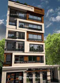 طراحی نمای مدرن/ساختمان/ آقای حاتمی